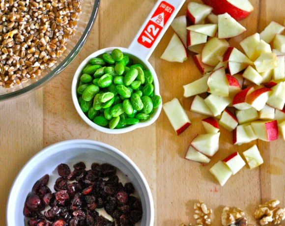 Cranberry Apple Wheat Berry Salad
