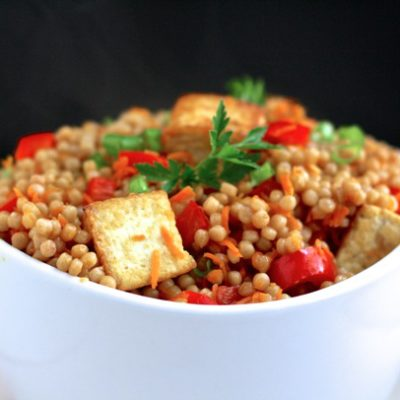 TOFU FRIED WHOLE WHEAT COUSCOUS