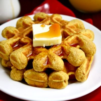 whole grain pumpkin spice waffles