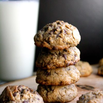 COFFEE-SPICED OATMEAL CHOCOLATE CHIP COOKIES