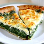 {spinach and feta quiche} // cait's plate