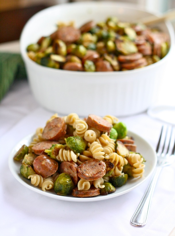 how to cook sprouts chicken sausage