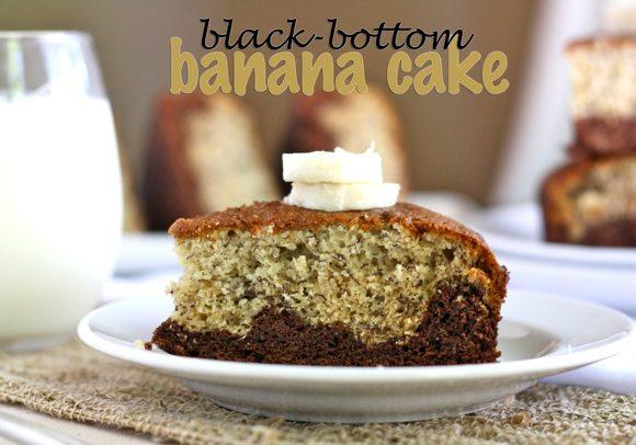 BLACK BOTTOM BANANA CAKE