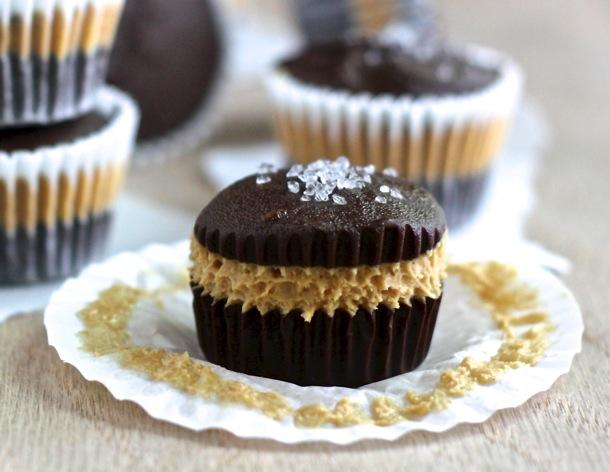 Chocolate Peanut Butter Cups With Sea Salt Recipe — Dishmaps