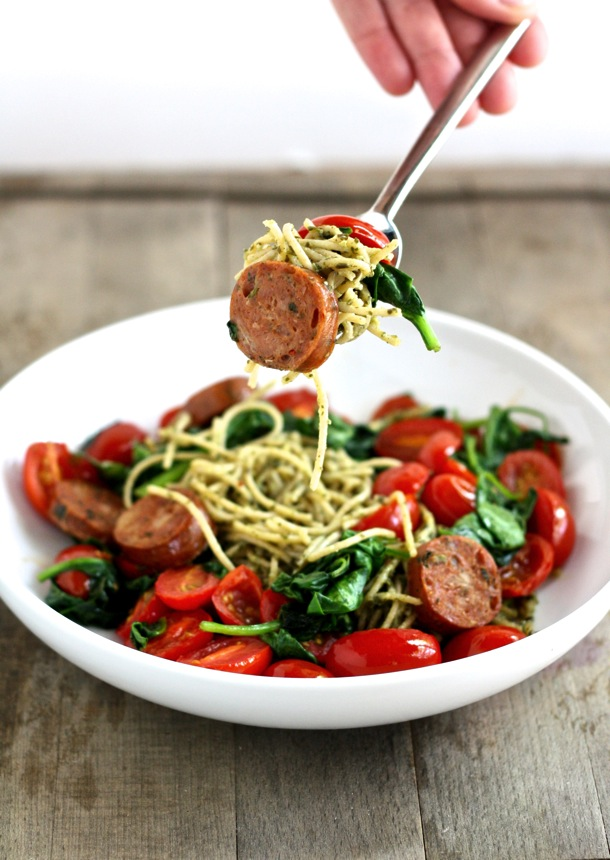 INGREDIENT WHOLE WHEAT PESTO SPAGHETTI WITH SAUTEED VEGETABLES AND ...