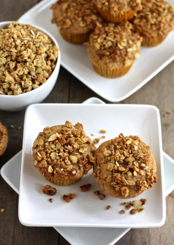 whole grain granola muffins // cait's plate