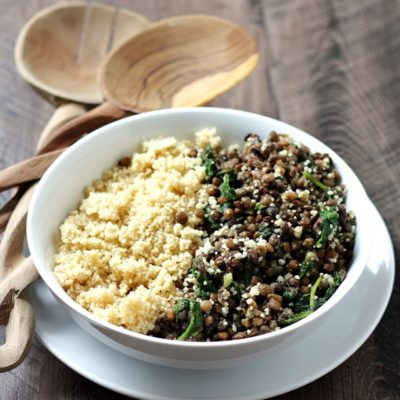 STEAMED LENTILS OVER WHOLE WHEAT COUSCOUS