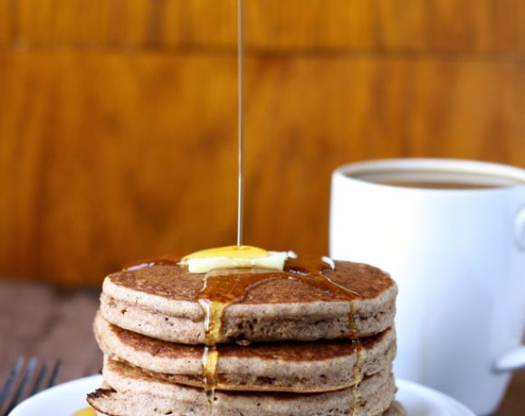 WHOLE WHEAT APPLE CIDER PANCAKES