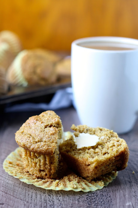 whole wheat pumpkin walnut muffins // cait's plate
