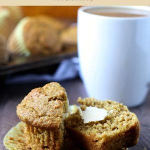 whole wheat pumpkin walnut muffins // cait's plate