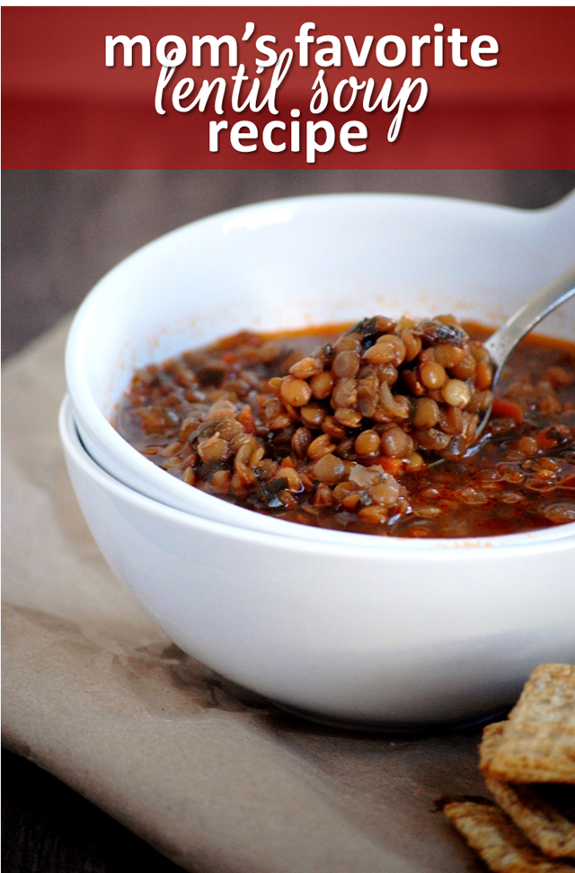 mom's favorite lentil soup recipe - a delicious, healthy staple to add to your week! // cait's plate