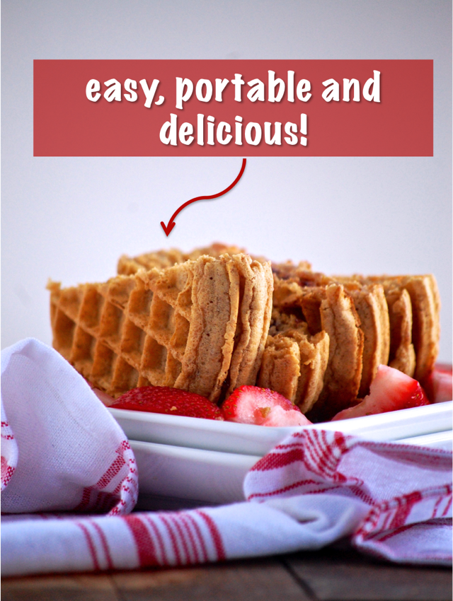 peanut butter and jelly waffle sandwich - quick, filling and delicious! perfect for breakfast paired with berries or as a portable snack // cait's plate