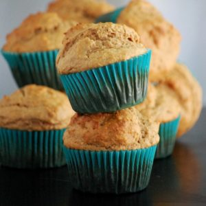 whole grain peanut butter banana yogurt muffins: the perfect grab-n-go breakfast! // cait's plate