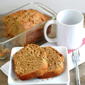 whole wheat walnut yogurt zucchini bread - a healthier twist on a delicious classic! // cait's plate