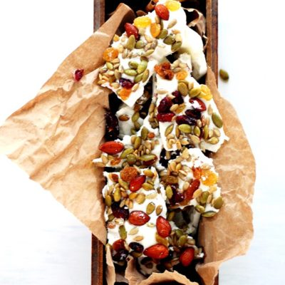 2 INGREDIENT GREEK YOGURT BARK