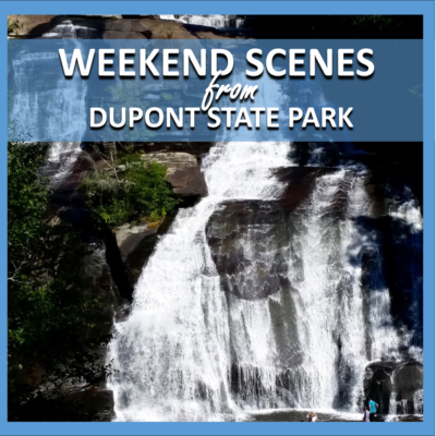 weekend scenes: dupont state park waterfall hike