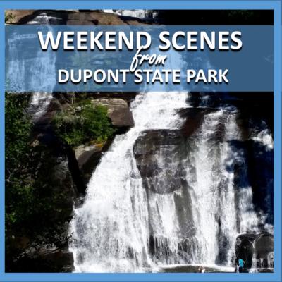 weekend scenes: dupont state park waterfall hike