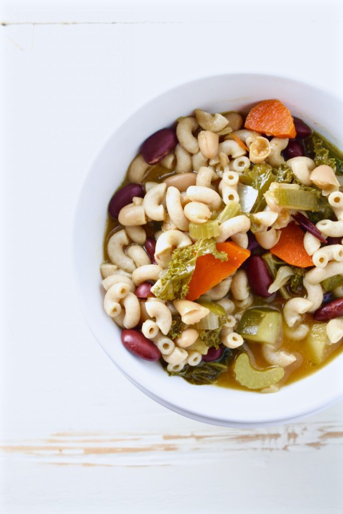 veggie packed two bean minestrone soup - the most comforting, filling meal for this colder weather! // cait's plate