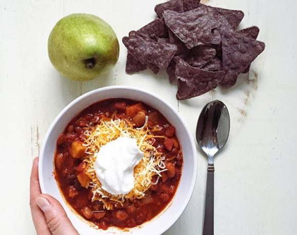 spicy slow cooker 3-bean sweet potato chili