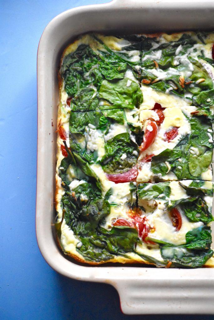 http://caitsplate.com/broccoli-pepper-and-feta-cheese-egg-bake/
