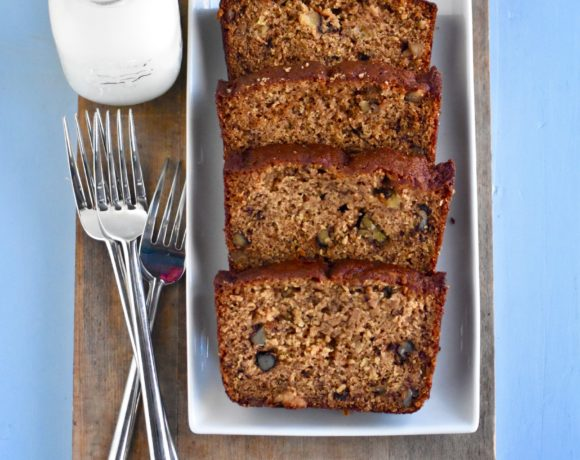 SUPER MOIST WHOLE GRAIN BANANA NUT BREAD