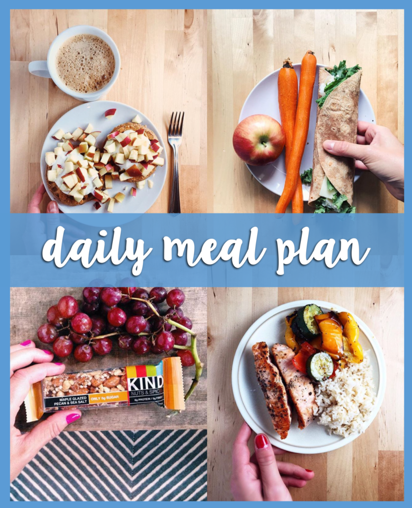 daily meal plan - a full day of balanced meal ideas from breakfast to dinner including product suggestions! // cait's plate