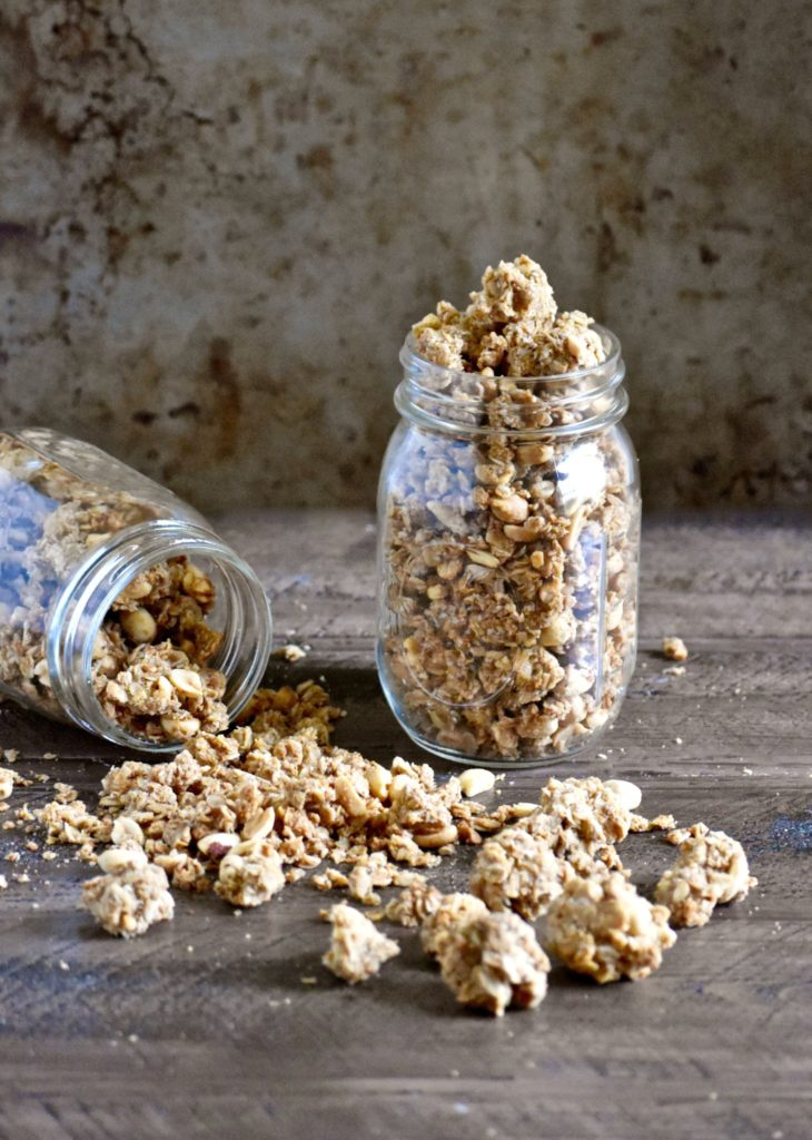 super cluster peanut butter granola - you won't be able to stop snacking on these delicious clusters! // cait's plate