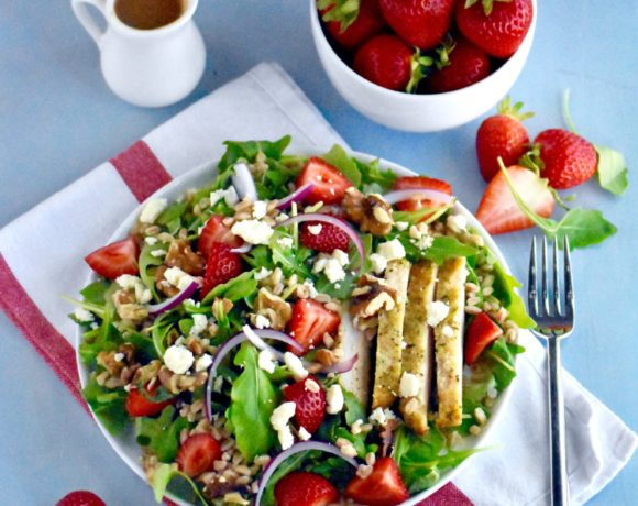 simple summer strawberry salad