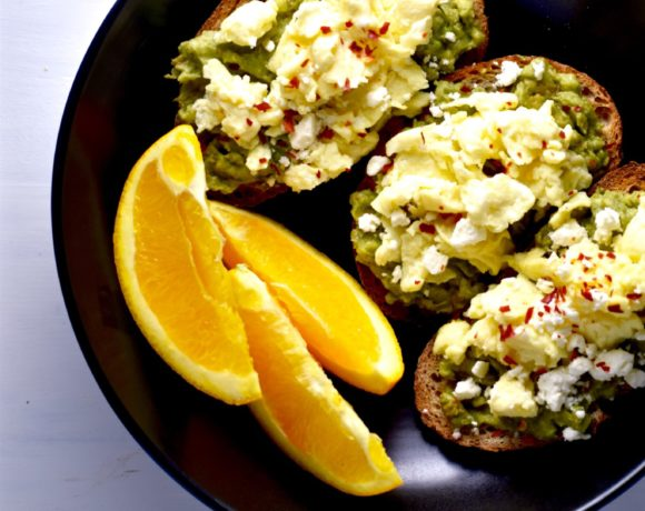 easy avocado egg & feta toasts