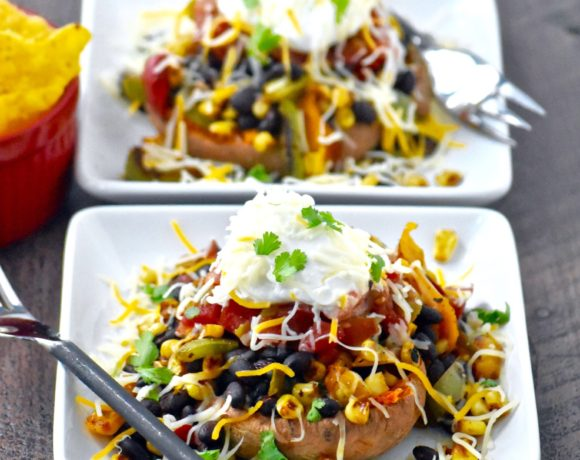 smashed mexican sweet potatoes