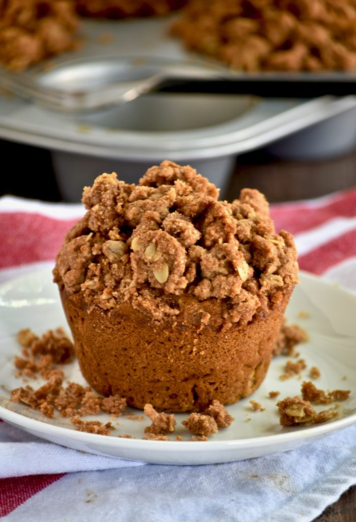 whole grain pumpkin apple muffins with oatmeal walnut ...
