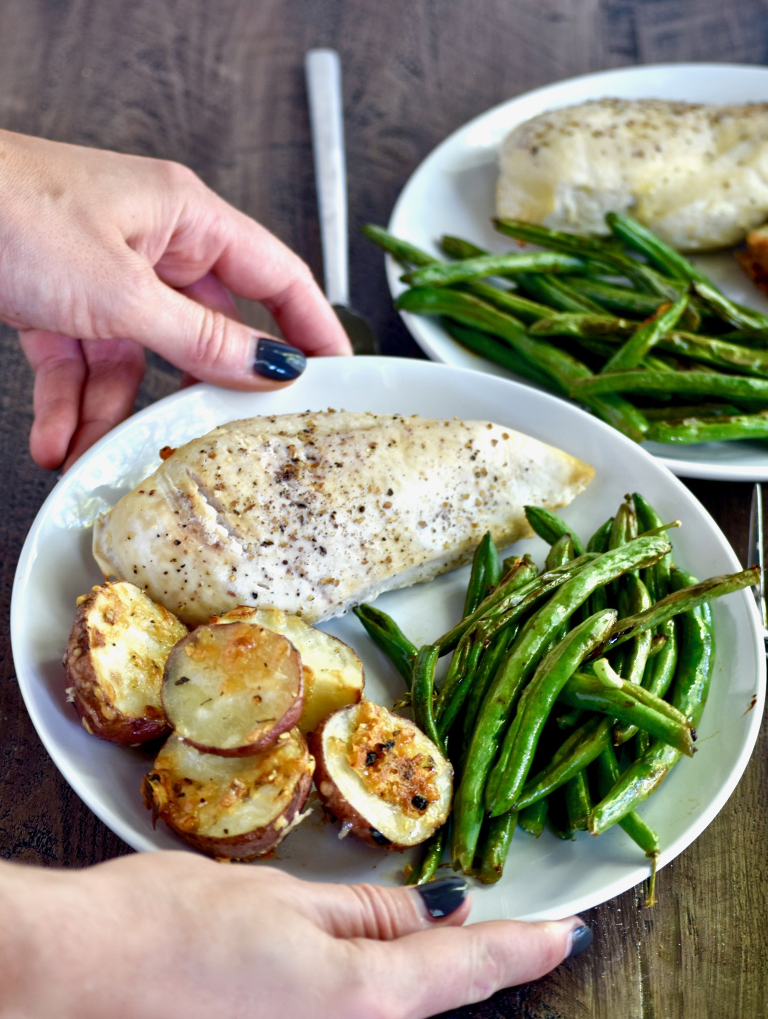 & one pan fully roasted dinner - cait\u0027s plate