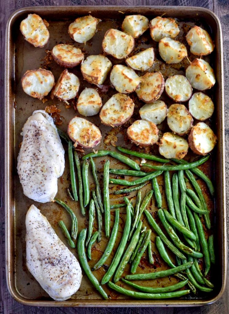 one pan fully roasted dinner - a balanced dinner completed on just one baking sheet! // cait's plate