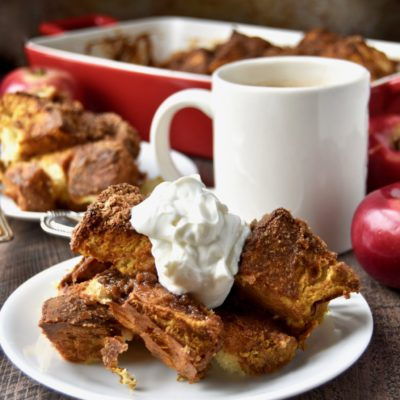 baked pumpkin french toast (with homemade whole grain brioche)