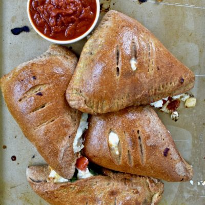 whole wheat vegetable calzones