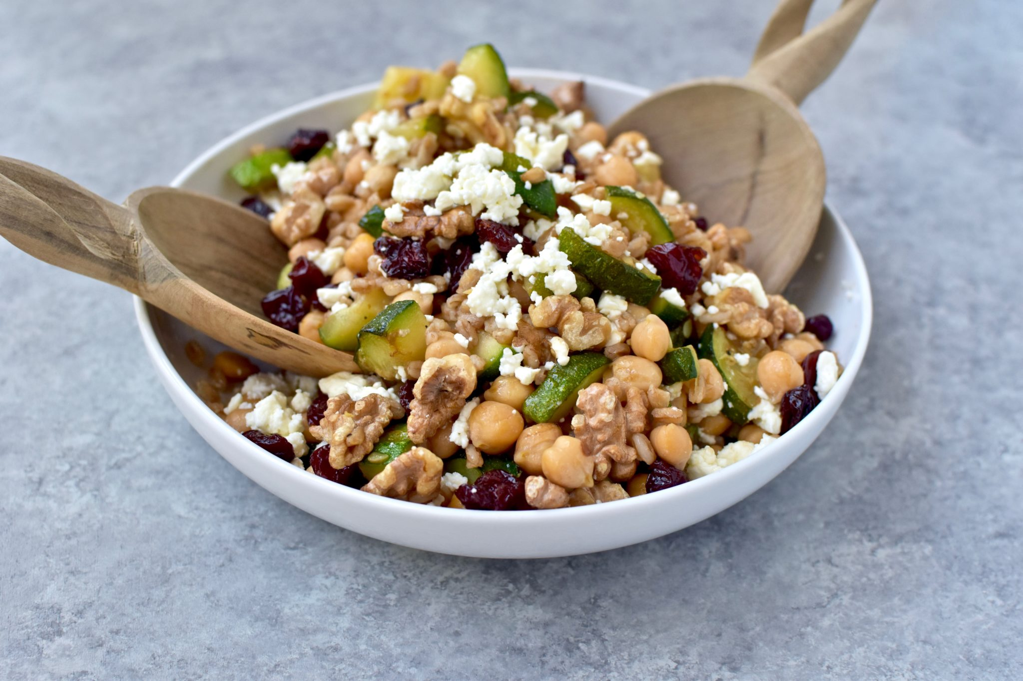protein-packed summer farro salad