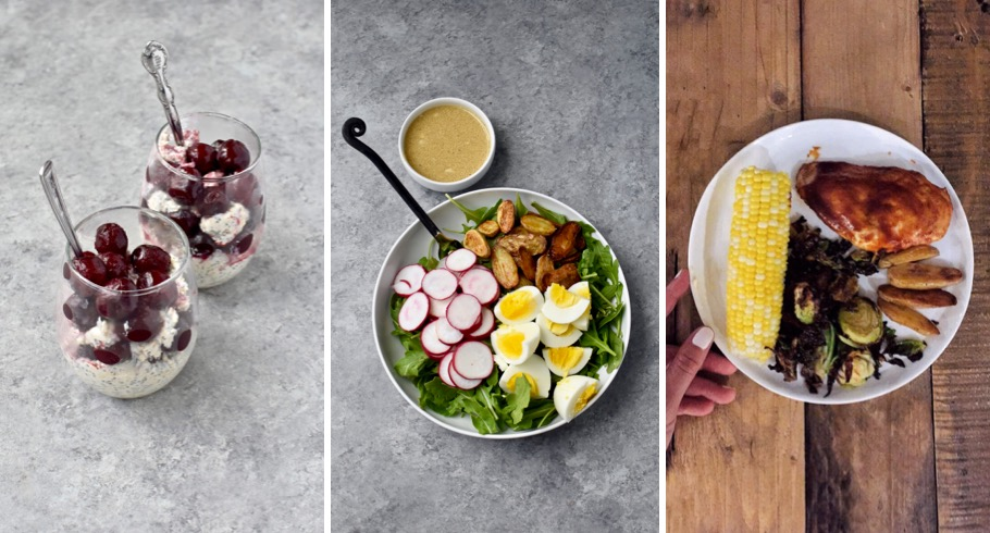 daily meal plan - a full day of balanced meal ideas from breakfast to dinner! // cait's plate