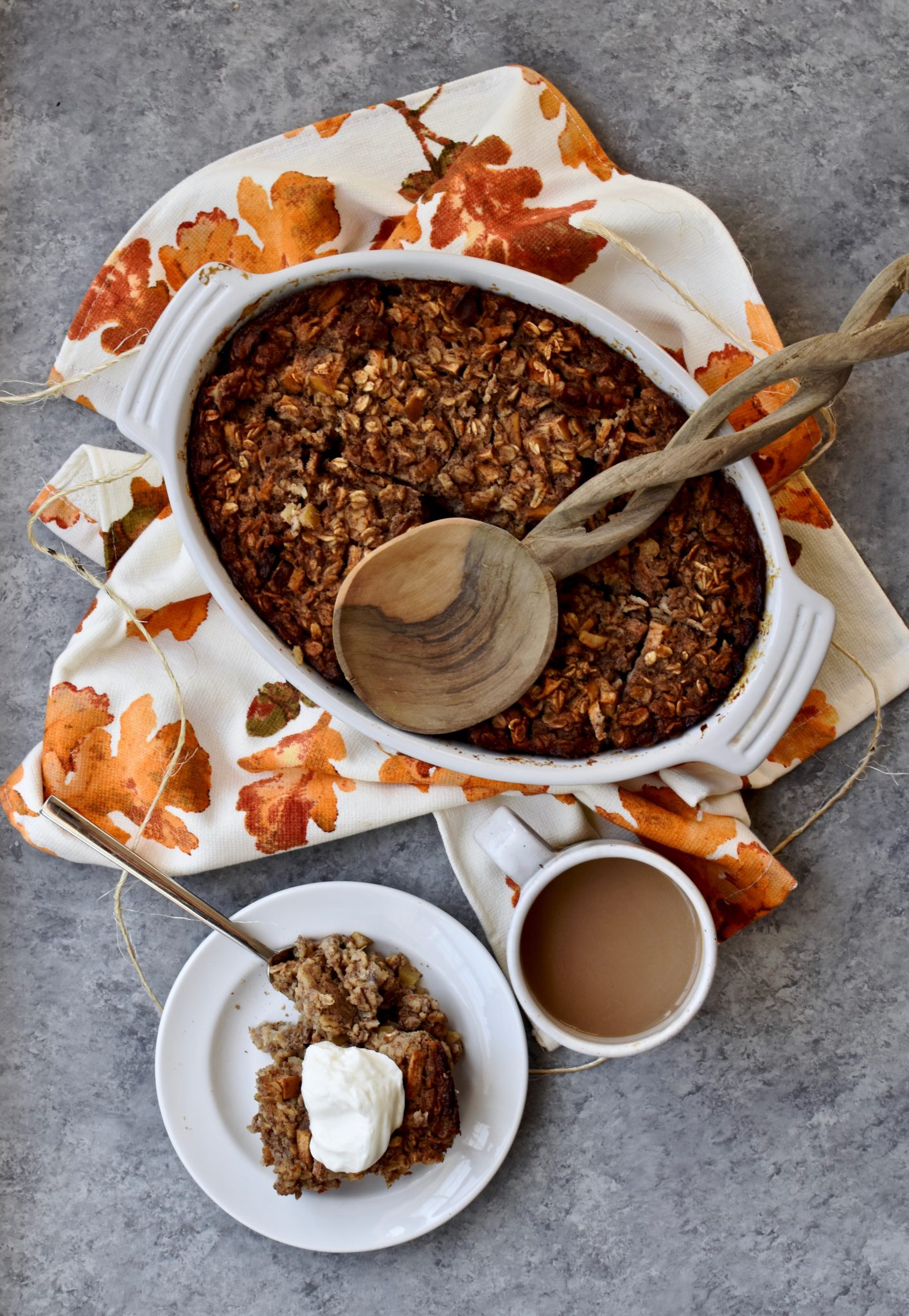 apple cinnamon walnut baked oatmeal