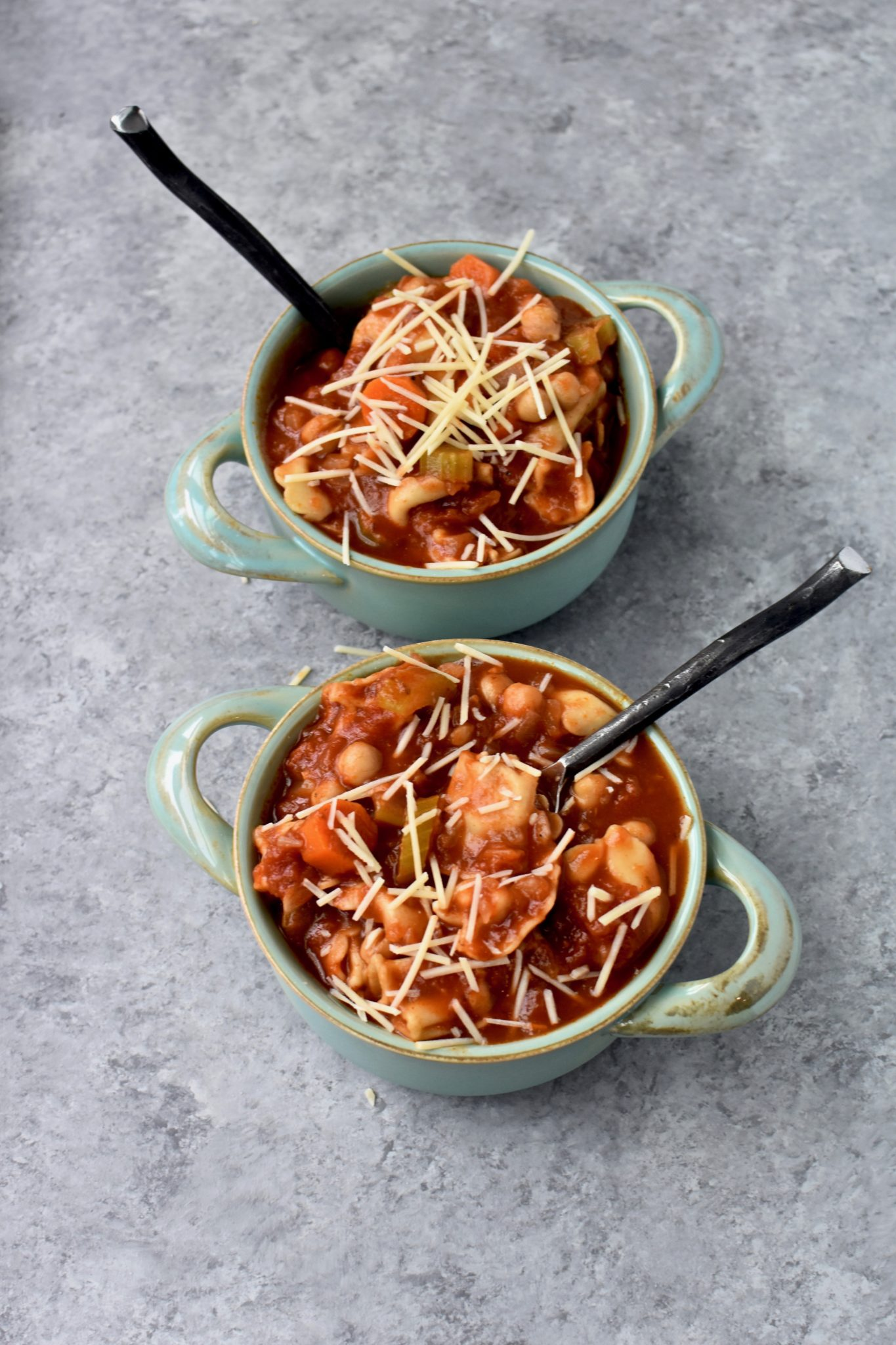 easy chickpea and whole grain tortellini soup // cait's plate