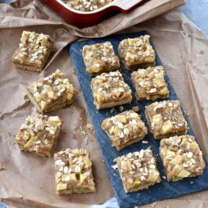 whole grain apple pie bars