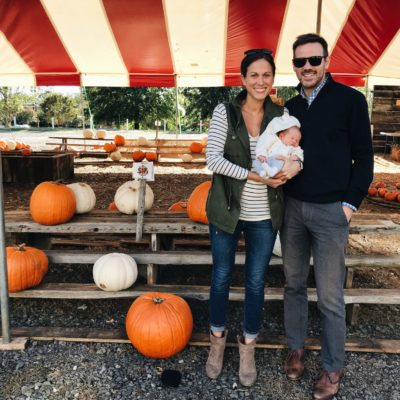 life: owen's first pumpkin patch visit