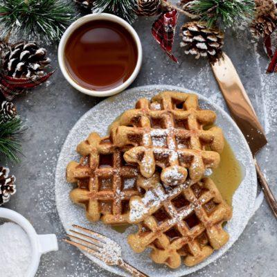 whole grain gingerbread waffles