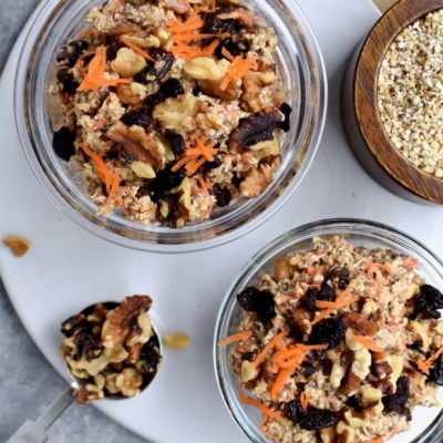 carrot cake overnight oatmeal
