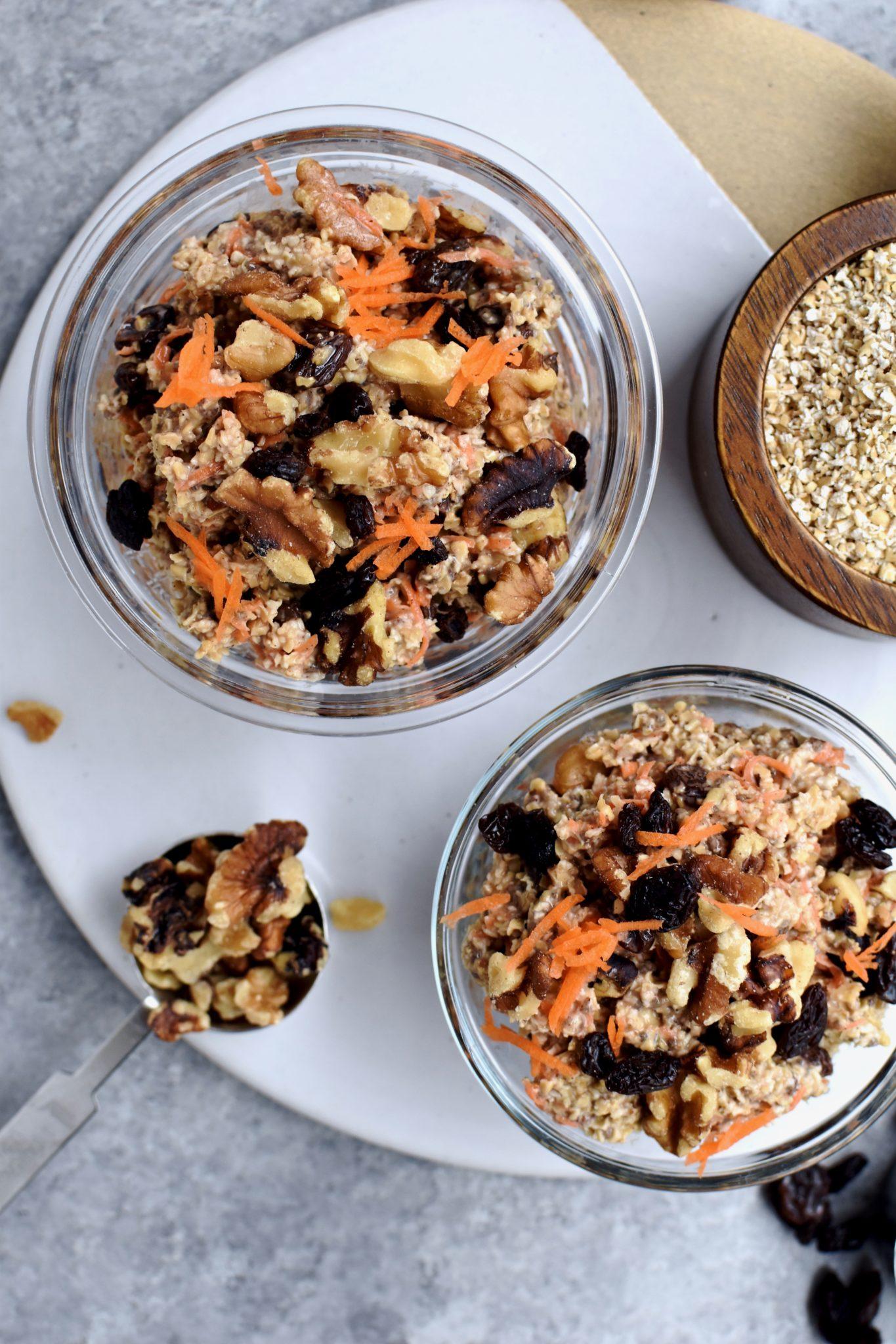 carrot cake overnight oatmeal // cait's plate