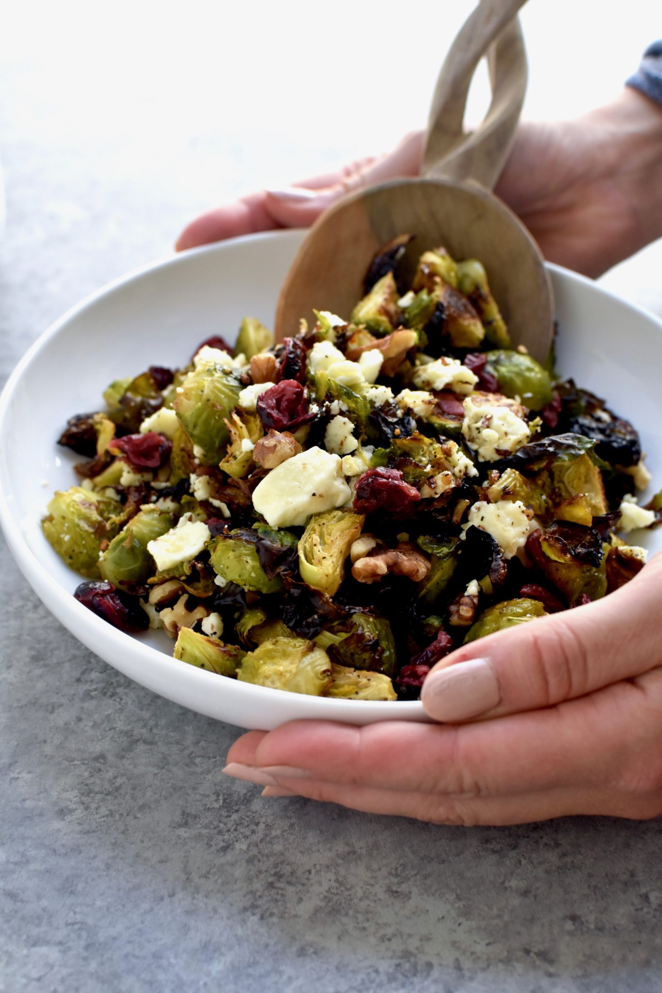 best ever roasted brussel sprouts // cait's plate