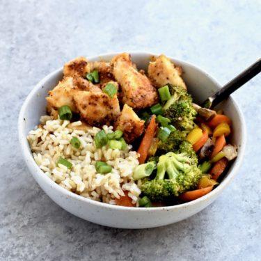spicy chicken & veggie stir-fry // cait's plate