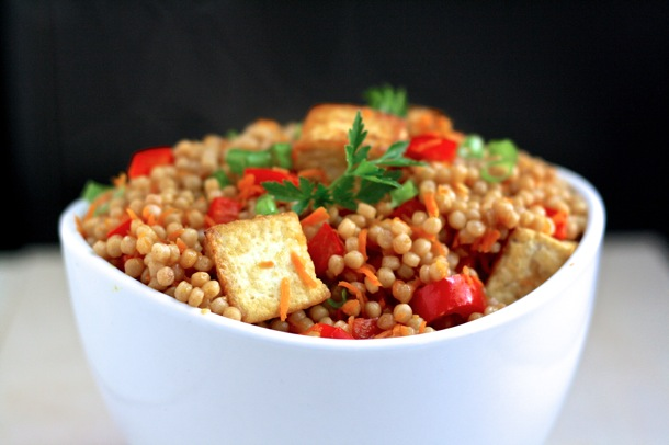 tofu fried whole wheat couscous // cait's plate