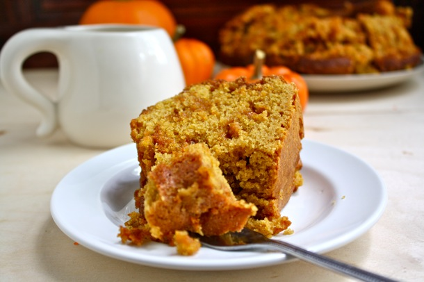 whole wheat pumpkin butterscotch cake // cait's plate