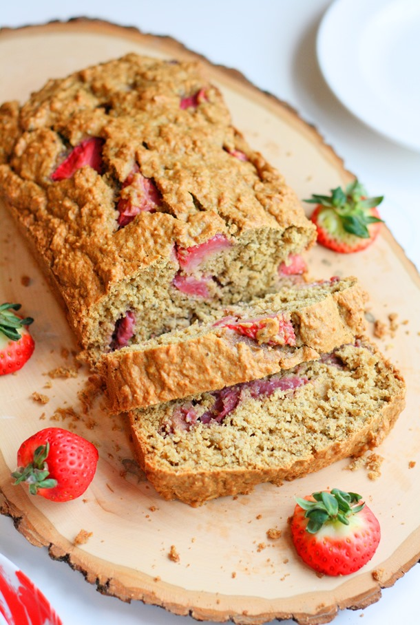 {whole wheat oatmeal strawberry muffin bread} // cait's plate