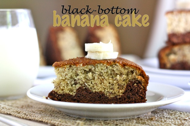 black bottom banana cake // cait's plate
